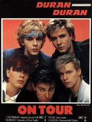 Duran Duran back in the day: clockwise from top right,