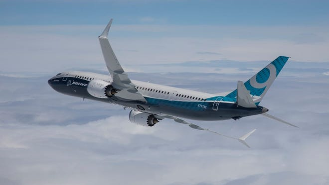 A rendering of a Boeing 737 MAX 9.