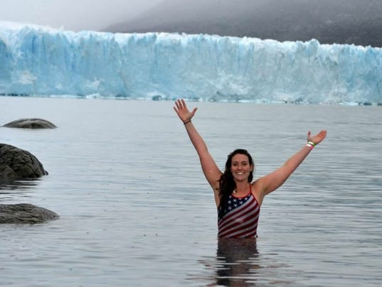 haggerty through heat ice and miles she swims