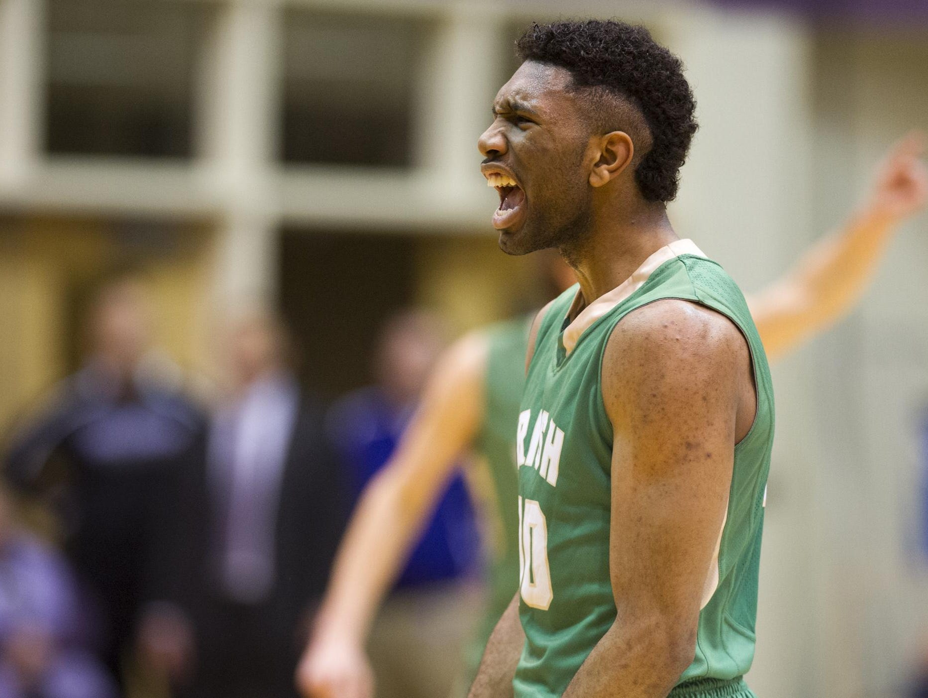 Cathedral's Eron Gordon, shown here in a game last year, scored a game-high 27 to lead the Irish past Howe on Friday night.