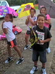 East Height students head to school on the first day.