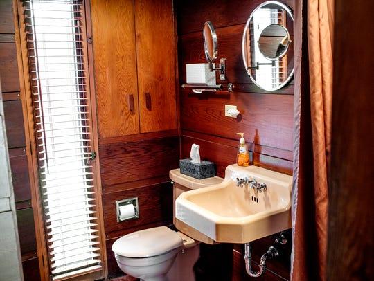 A view of the bathroom inside the Goetsch-Winckler