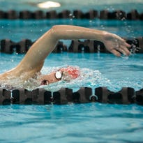 Leah Westcott and the Brookfield East swimming and diving team took third at the Greater Metro Conference Relays. Central finished first.
