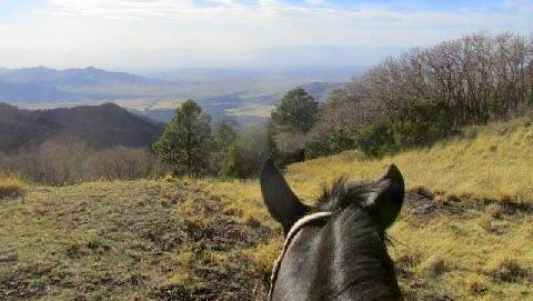 A hazy Tularosa Basin in the distance is just one of the views from the Sacramento Mountains.
