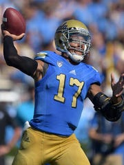 """UCLA's Brett Hundley was described by Bills' general manager as an """"athletic thrower."""""""
