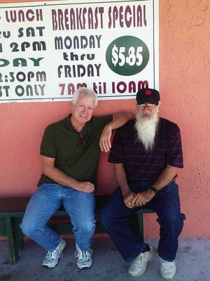 Mike Willis, left, with his brother Jimmy Willis, 70, in the Florida Keys
