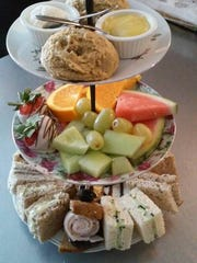 Snacks served during tea service at Kimberly Ann's Tea Room & Cafe.