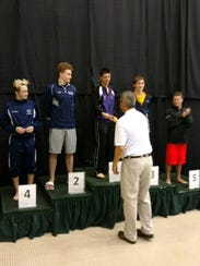 Lakeview's Levi Youmans is awarded  his state championship