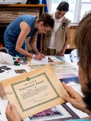 Girls scouts from years ago and current browse memorabilia