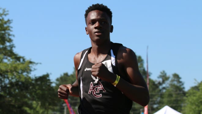 Alabama Christian's Sheldon Britton, after winning the 5A boys 1,600 Thursday, won the 3,200 Friday in 9:47.68 at the AHSAA track and field state meet in Gulf Shores.