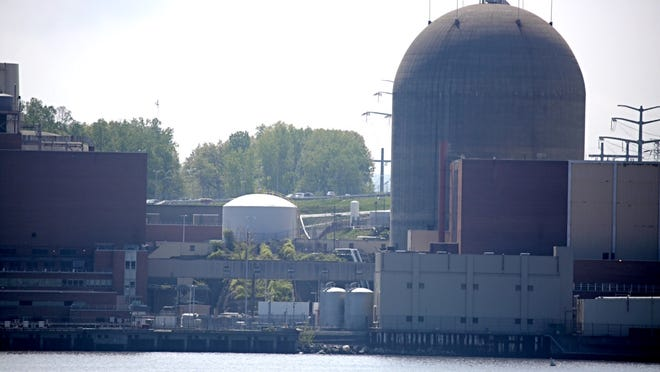 Indian Point in Buchanan the day after Saturday's transformer explosion.