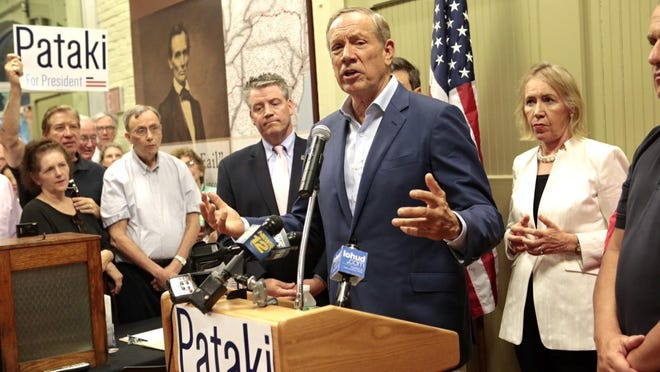 Republican presidential candidate and former New York Gov. George Pataki at a May rally in Peekskill.