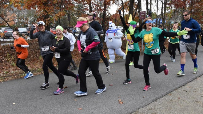 """Runners take part in the Leah's 5K Run/Walk and Kids """"Spooktacular"""" Fun Run on Saturday in Hopewell Junction."""