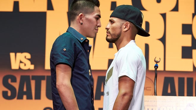 Leo Santa Cruz, left, says he wouldn't have a boxing career without his older brother. (Suzanne Teresa/Premier Boxing Champions)