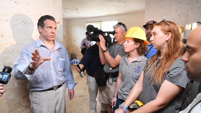 Gov. Andrew Cuomo discusses New York's assistance while touring storm damage in Puerto Rico.