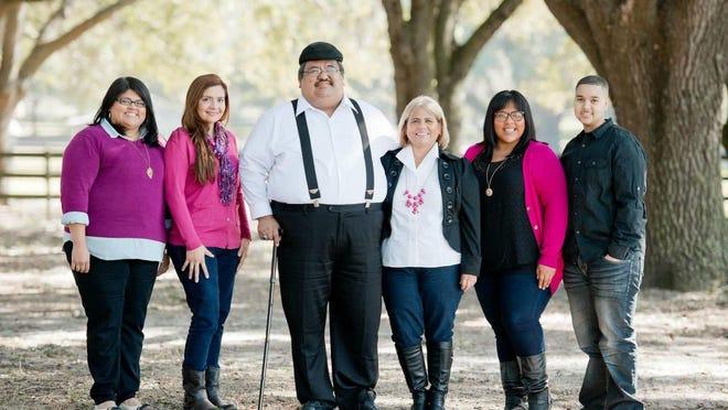 Tony Salmeron, center, died on July 2 due to complications from COVID-19. In the photo, from left to right, are Rebeca Salmeron, Daisy Alberto, Tony Salmeron, Mercedes Salmeron, Amanda Stone and Cameron Stone