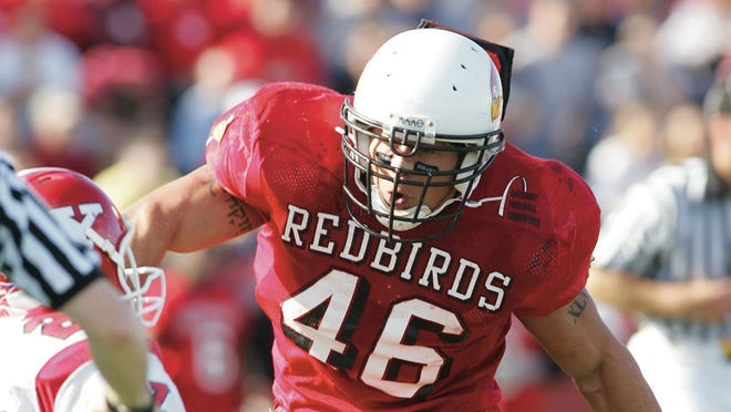 Former Illinois State linebacker Boomer Grigsby of Canton looks to make a tackle during a game in his collegiate career.
