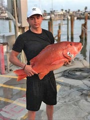 Rene Hernandez, 23, has been deep-sea fishing with