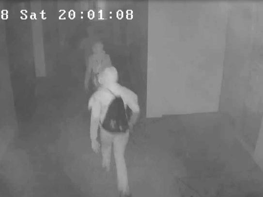 Surveillance photos of three juveniles suspected of