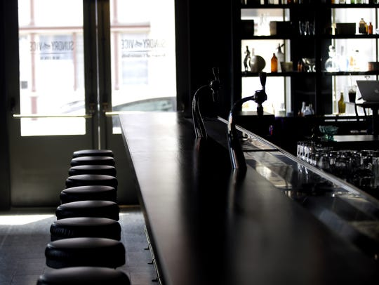 Bar stools in Sundry and Vice in OTR.