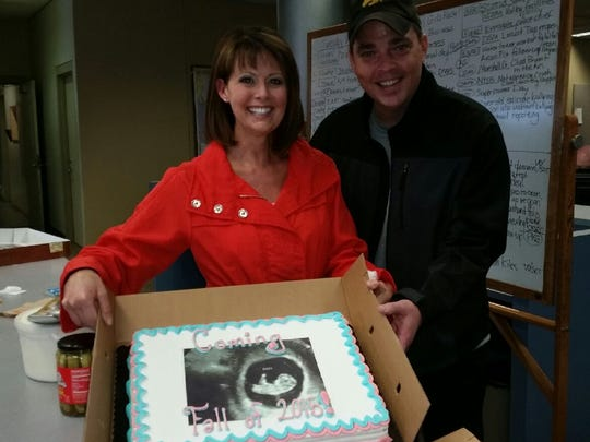WHO-HD news anchor Erin Kiernan and her husband, Michael,