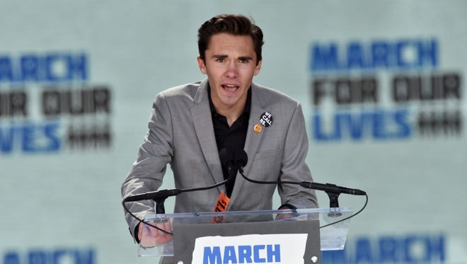 Marjory Stoneman Douglas High School student David Hogg speaks during the March for Our Lives Rally in Washington, D.C., on March 24, 2018.