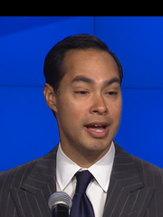 HUD Secretary Julian Castro speaks at a news conference