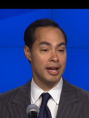 HUD Secretary Julian Castro speaks at a news conference on Katrina 10-year anniversary.