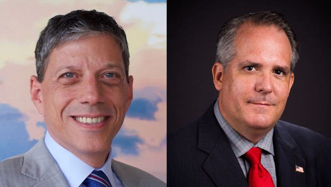 David Holden, left, of Naples, and Todd James Truax, of Bonita Springs, are the two democrats looking to unseat Rep. Francis Rooney in Florida's 19th congressional district this November.