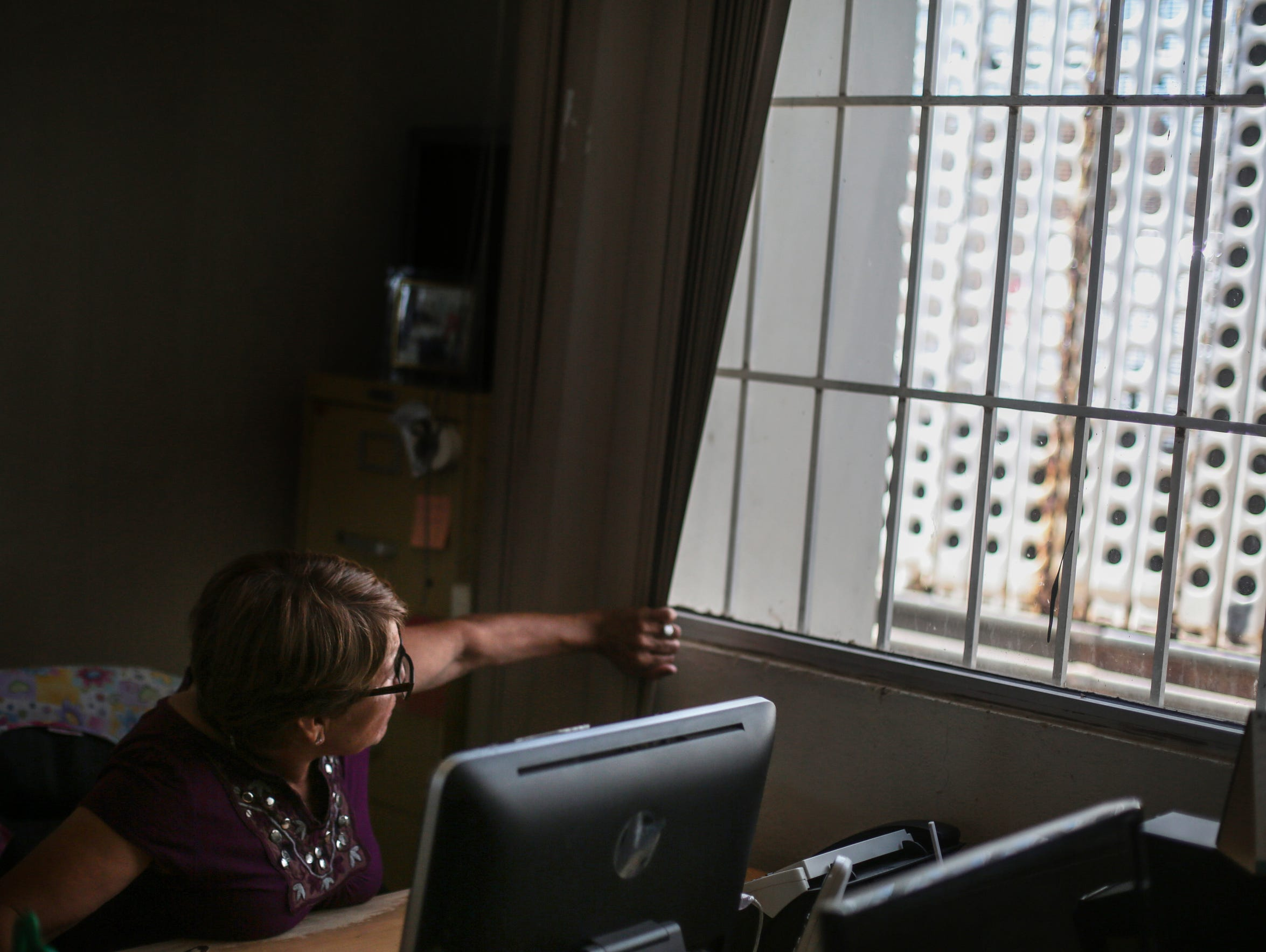 Yolanda Lopez, 67, a volunteer at a migrant care center