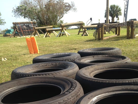 This ninja-warrior-style obstacle course is one of