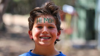 A photo from a summer camp posted to the camp's website so parents can view them.