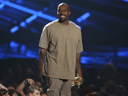 FILE - In this Aug. 30, 2015 file photo, Kanye West