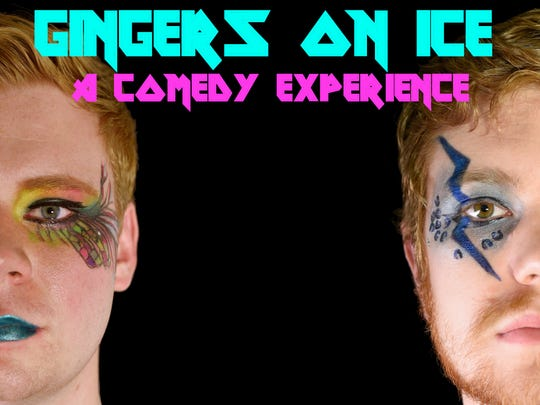"""""""Gingers On Ice"""" is a live blend of sketch, improv and stand-up comedy featuring redheads Jacob Godbey and Alex Tait."""