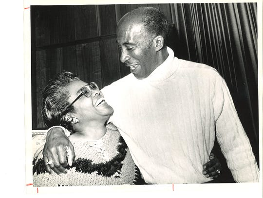 Former Tallahassee Mayor James Ford (right) with his