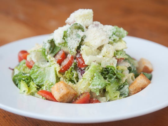 Caesar salad is a popular lunch choice at Sabrina's Cafe in Collingswood.