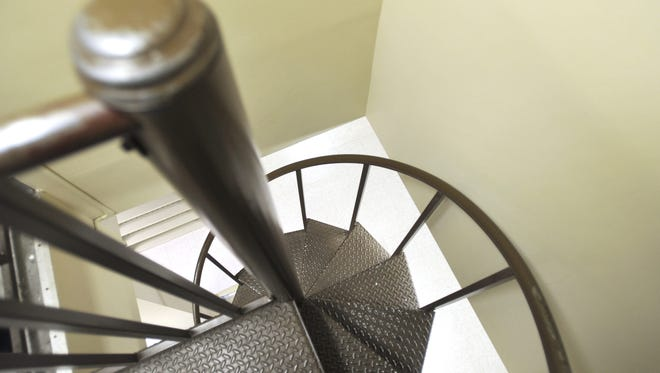 Chancery Court Records employees in the office of Rankin County Chancery Clerk Larry Swales have to climb a spiral staircase several times a day.