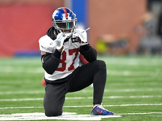 New York Giants wide receiver Sterling Shephard during practice at Quest Training Center in East Rutherford, NJ on Wednesday, January 4, 2017.