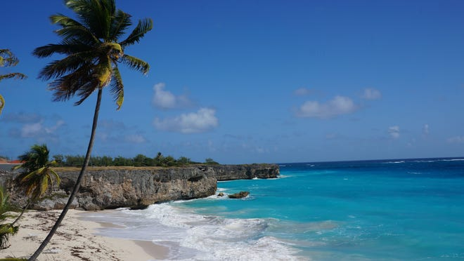 Bottom Bay in Barbados. The Caribbean island is relatively easy on the wallet.