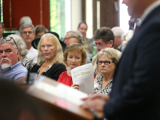 Angry citizens spoke out last month against the state's