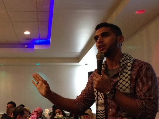 Mohammed Zeyara, a Palestinian from Gaza, spoke about the horrors inflected on his civilian family members and friends by Israeli military in retaliation of Hamas terrorist attacks during a fundraiser for Islamic Relief on Thursday at Shahnawaz Palace in Edison.