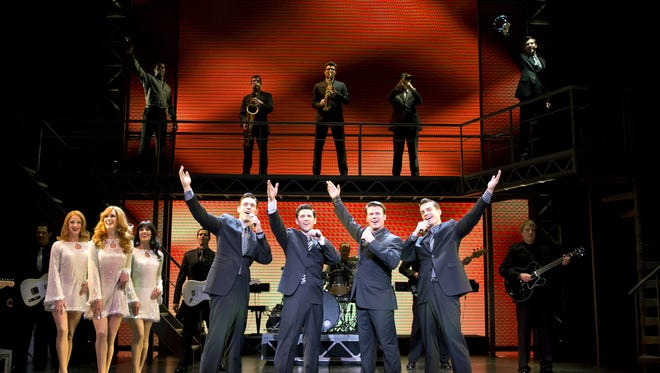 The cast and company of the national touring company of 'Jersey Boys' came to ASU Gammage in 2014. In front from left: Jason Kappus, Nick Cosgrove, Nicolas Dromard, Brandon Andrus.