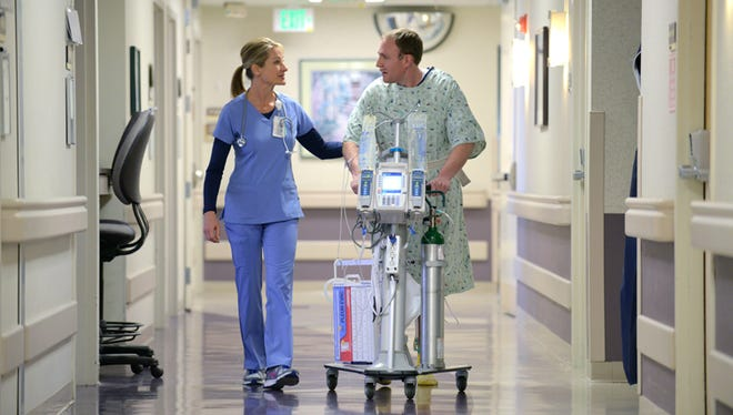 Firefly's IVEA is a combination IV pole and walker. It creates stability for patient and nurse and can accommodate medically necessary equipment.