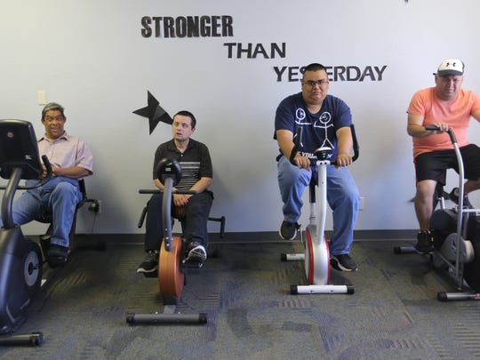 An exercise class is part of the curriculum at the Emergence Health Network's Day-Hab Learning Center. Studies have shown that exercise is good for the body and the mind.