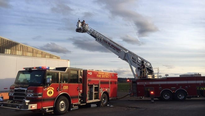 More than 40 firefighters battled a fire at a hemp drying facility on March 3, 2020, on Sunnyview and Howell Prairie roads NE in rural Marion County.