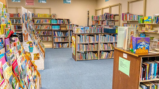 The children's section at the Friends of the Library bookstore in Hendersonville.