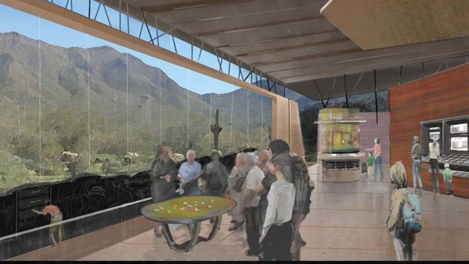 "An artist's conception of the ""Hidden Desert"" pavilion, part of a 2010 approach to a design for the Desert Discovery Center in Scottsdale."