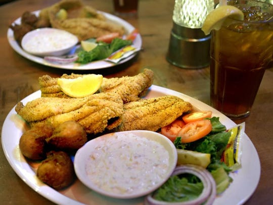 June 18, 2016- Fried Delta Catfish Platter at Corky's