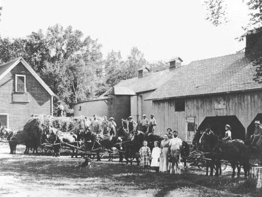 Calkins Family and Horse Barn