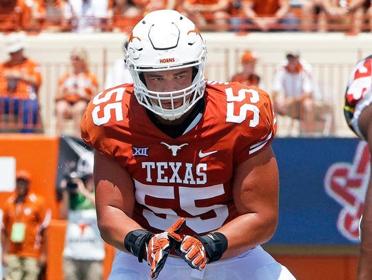 Texas offensive lineman Connor Williams was selected